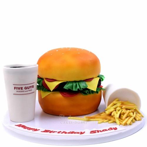 five guys burger meal cake 7