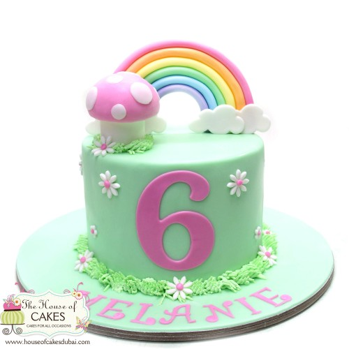 cake with rainbow 7