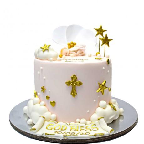 christening cake 1 6