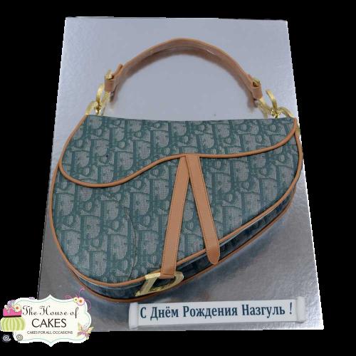 christian dior saddle bag cake green 7