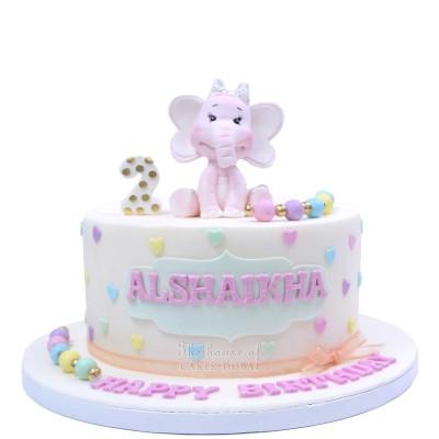 Cute elephant cake 5
