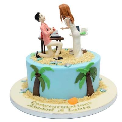 Engagement cake 8