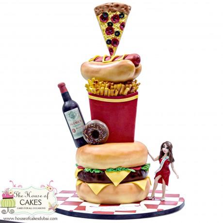 fast food cake 6