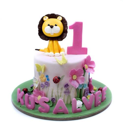 Lion girl birthday cake