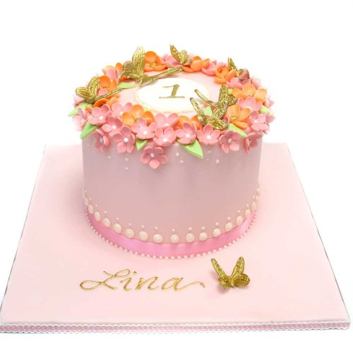 flowers and butterflies cake 7
