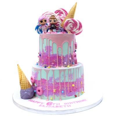 LOL dolls cake 21