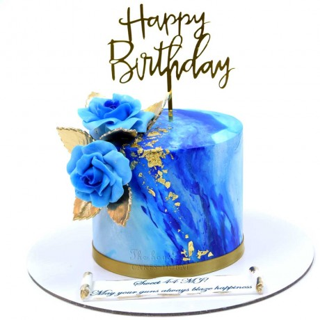 blue marble and gold cake 2 12