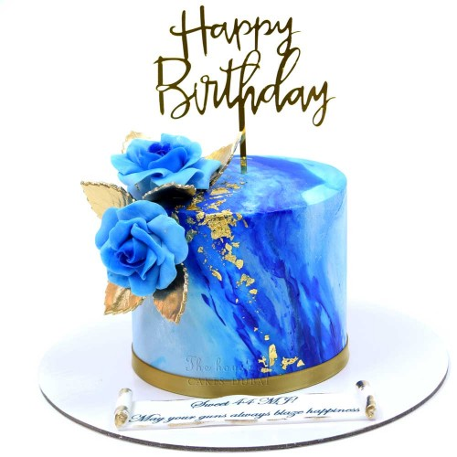 blue marble and gold cake 2 13
