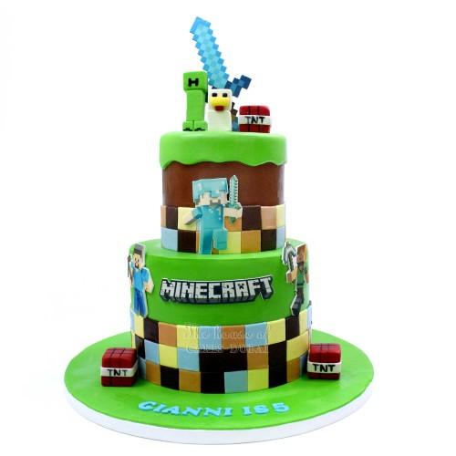 Minecraft cake 25