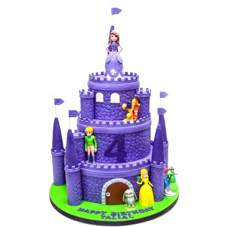 princess sofia castle cake 6