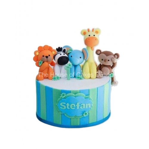 Jungle animals cake 5