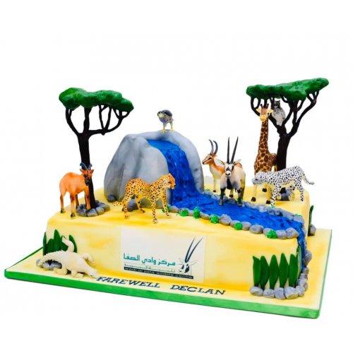 Jungle Safari Themed Cake