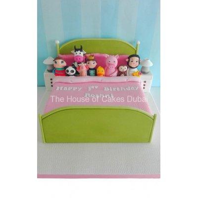 Ten in bed little baby bum cake
