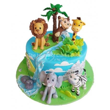 Jungle animals cake 7