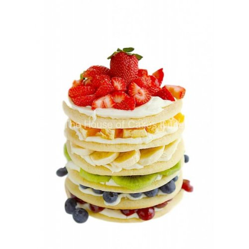 Rainbow fruits cookies cake