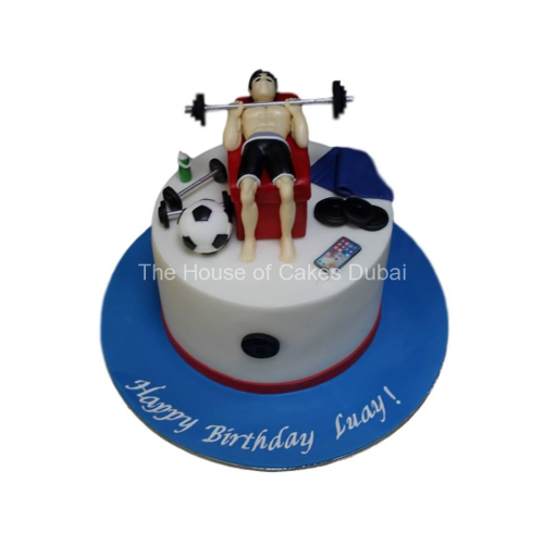 Fitness and other favorite things cake 2