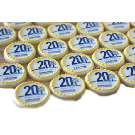 Corporate cookies with logo 1
