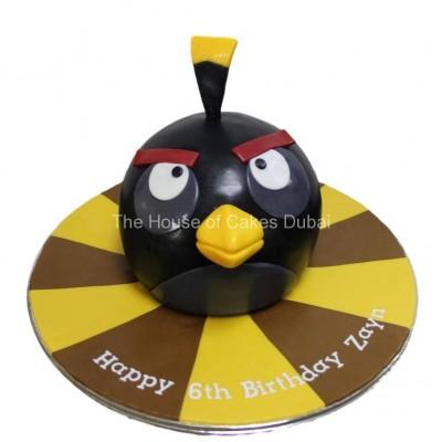 Black angry bird cake 1