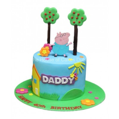 Daddy Pig Cake 2