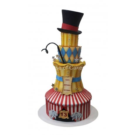 circus inspired couture cake 6