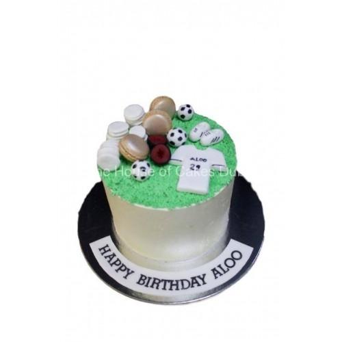 football cake 15 7