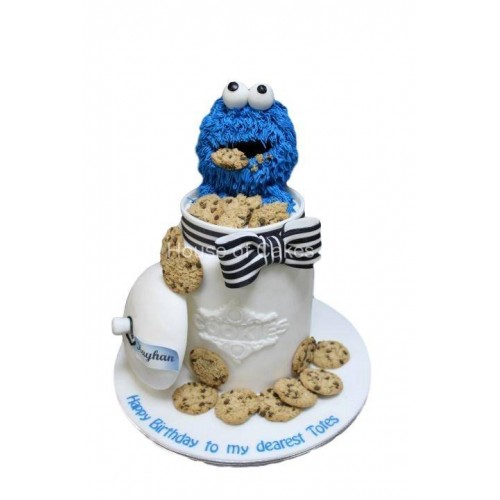Cookie monster cake 4