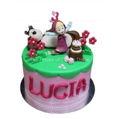 Masha and the bear cake 6
