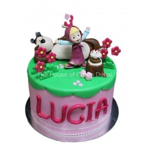 masha and the bear cake 6 7