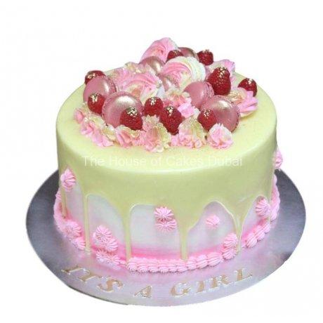 drip and raspberries cake 6