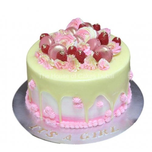 drip and raspberries cake 7