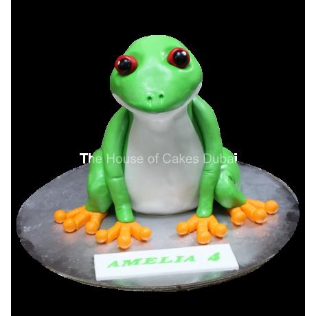 3D frog cake 4