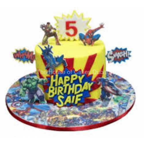 Superheroes cake 23
