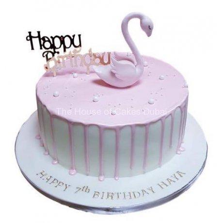Flamingo cake 6