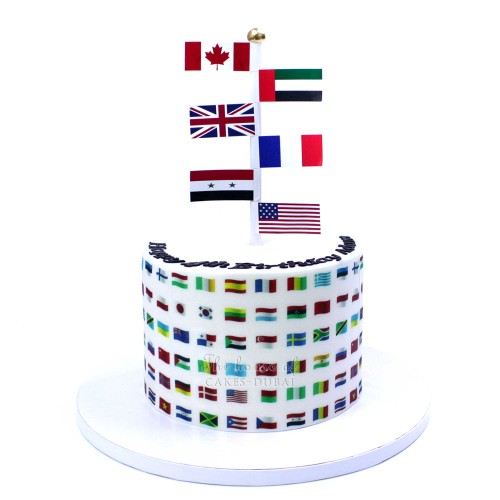 Cake with flags
