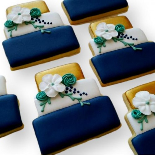 Wedding Cake Shape Cookies