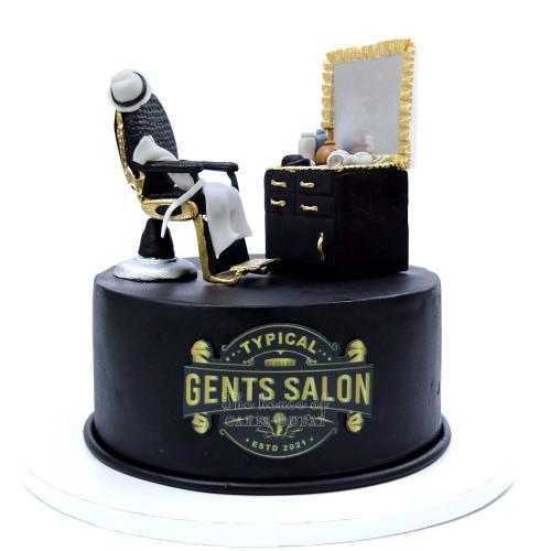 gents salon hairdresser cake 13