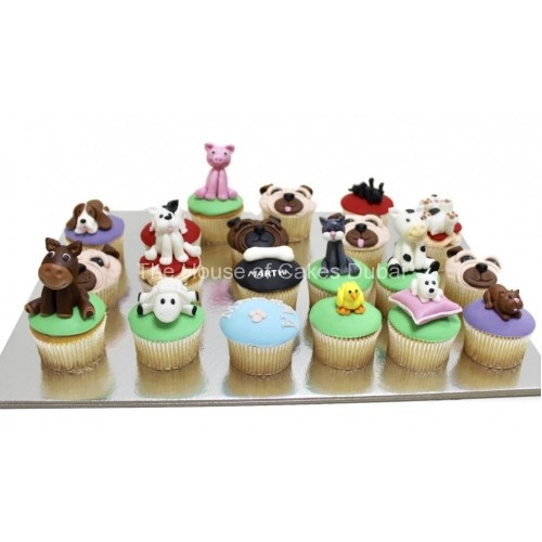 Cupcakes with pets and animals