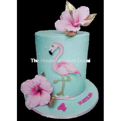 Flamingo cake 7