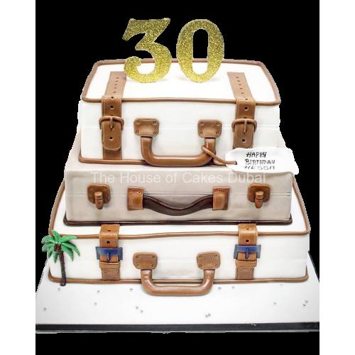 3 suitcases cake 7
