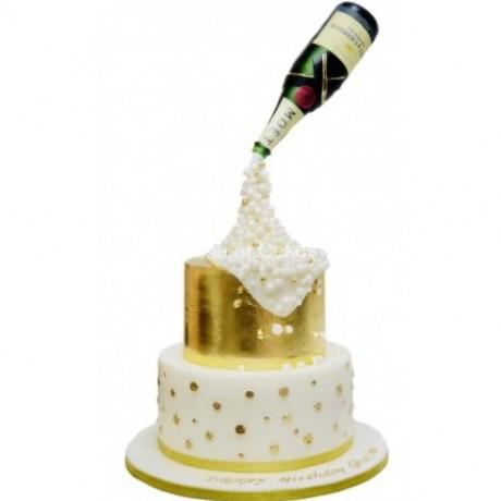champagne bottle cake 4 6