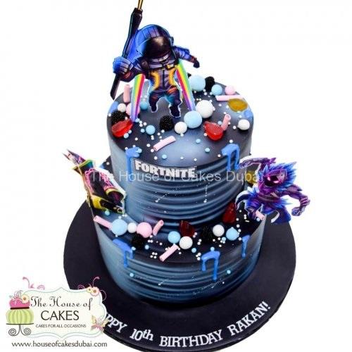 galaxy fortnite cake 7