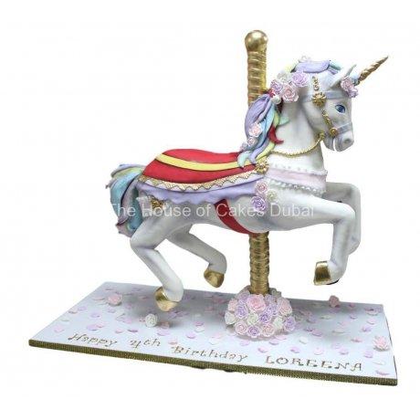 3D Horse Unicorn Cake