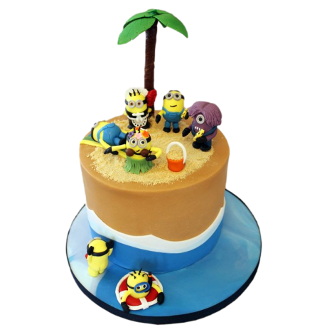 minions pool party cake 12