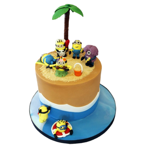 minions pool party cake 13