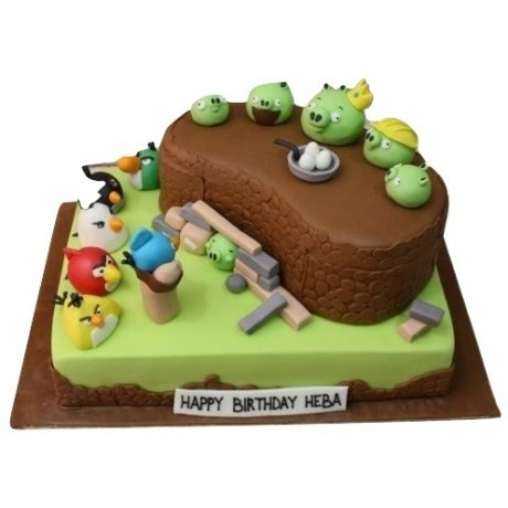 angry birds cake 6