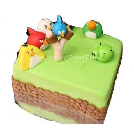 Angry Birds Cake 4