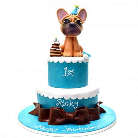 French Bulldog Cake 2