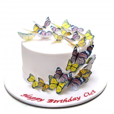 cake with butterflies 9 6