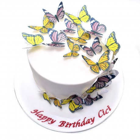 cake with butterflies 9 7
