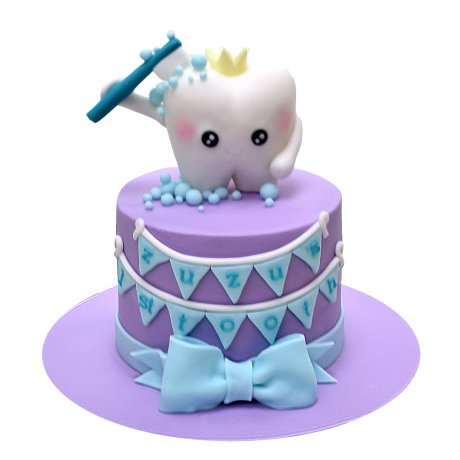 first tooth cake 4 6